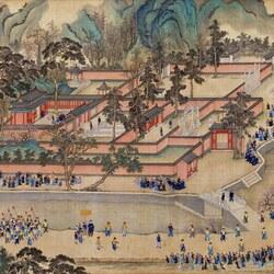 Пазл онлайн: The Kangxi Emperor's Southern Inspection Tour(IX)/Южный инспекционный Тур императора Канси (IX), 6