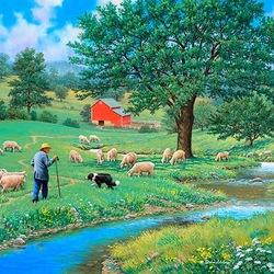 Пазл онлайн: Добрый пастырь