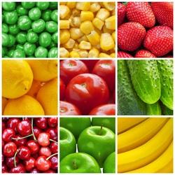 Пазл онлайн: Плодовый коллаж