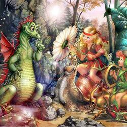 Пазл онлайн: И драконы тоже...