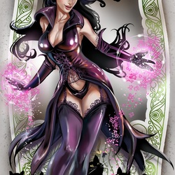 Пазл онлайн: Пурпурная ведьма