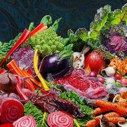 Пазл онлайн: Овощное изобилие