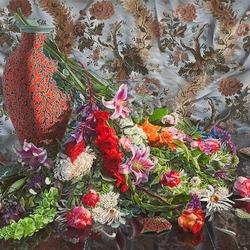 Пазл онлайн: Ваза с цветами
