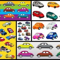Пазл онлайн: Машинки
