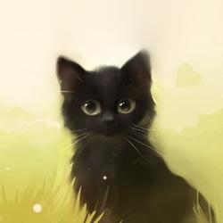 Пазл онлайн: Влюбленный котик