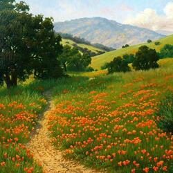 Пазл онлайн: Цветущие луга