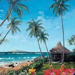 Пазл онлайн: Утро на Мауи
