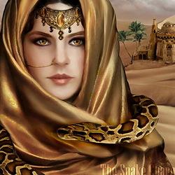 Пазл онлайн: Заклинательница змей