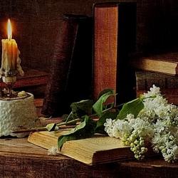 Пазл онлайн: Сирень и свеча