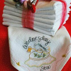 Пазл онлайн: Салфетки с вышивкой