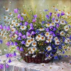 Пазл онлайн: Полевые цветы