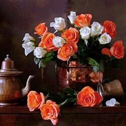 Пазл онлайн: Просто розы