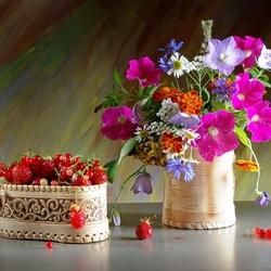 Пазл онлайн: Цветочки-ягодки