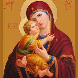 Пазл онлайн: Богородица
