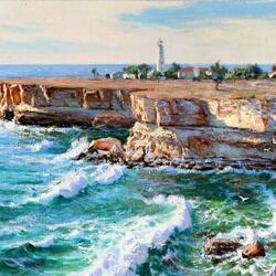 Пазл онлайн: Волны у мыса Тарханкут