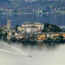 Пазл онлайн: Озеро Орта