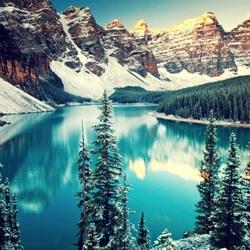 Пазл онлайн: Зимнее озеро