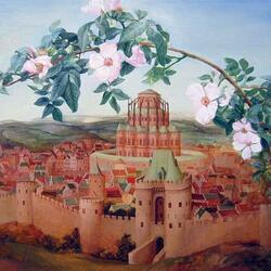 Пазл онлайн: Цветет шиповник