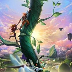 Пазл онлайн: Вверх по бобовому стеблю
