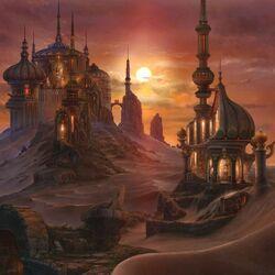 Пазл онлайн: Город в песках