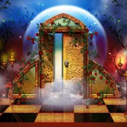Пазл онлайн: Лунная дверь