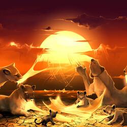 Пазл онлайн: Скажи мне, почему небо красное