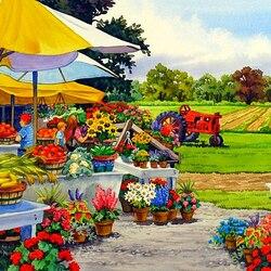 Пазл онлайн: Распродажа цветов