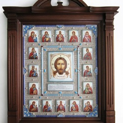 Пазл онлайн: Спас с клеймами Пресвятой Богородицы