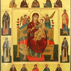 Пазл онлайн: Икона Божией Матери.Всецарица