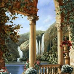 Пазл онлайн: Водопады