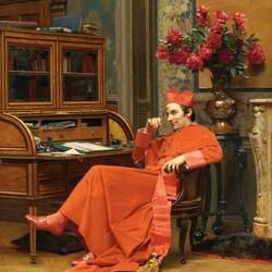 Пазл онлайн: Мысль кардинала