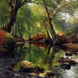 Пазл онлайн: В лесной тиши