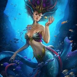 Пазл онлайн: Морская царица