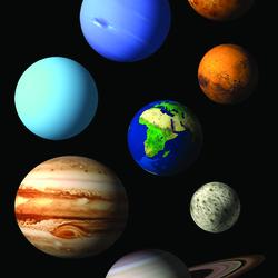 Пазл онлайн: Планеты