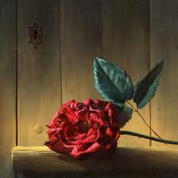 Пазл онлайн: Одна лишь роза
