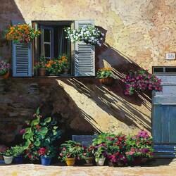 Пазл онлайн: Фасад в тени