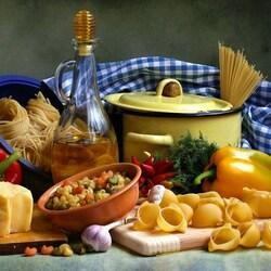 Пазл онлайн: С макаронами