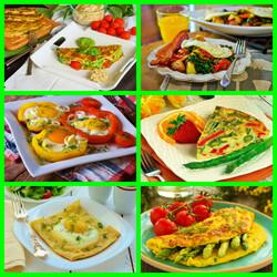 Пазл онлайн: Яичные блюда