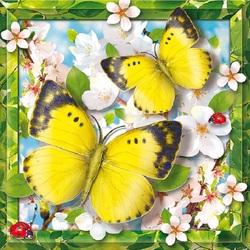 Пазл онлайн: Лимонная бабочка