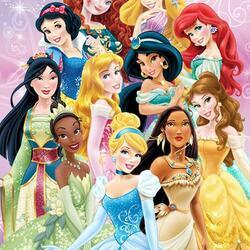 Пазл онлайн: Диснеевские принцессы