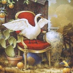 Пазл онлайн: Птица белая