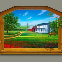 Пазл онлайн: С видом на ферму