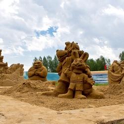 Пазл онлайн: Фигуры из песка
