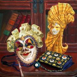 Пазл онлайн: Венецианский натюрморт