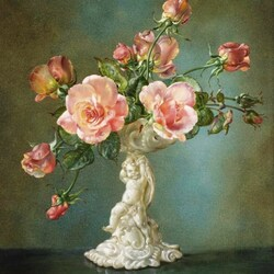 Пазл онлайн: Розы
