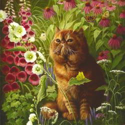 Пазл онлайн: Шоколадный кот