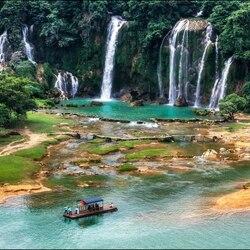 Пазл онлайн: Водопад Детьян в провинции Гуанси, Китай