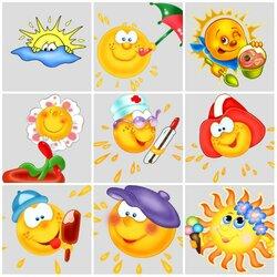 Пазл онлайн: Солнышки