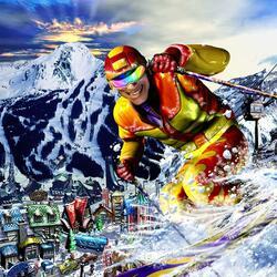 Пазл онлайн: Лыжник