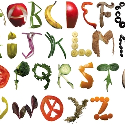 Пазл онлайн: Съедобный алфавит